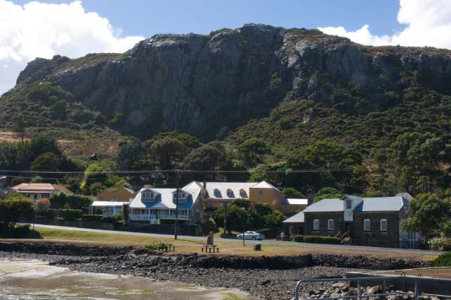 The village of Stanley below The Nut
