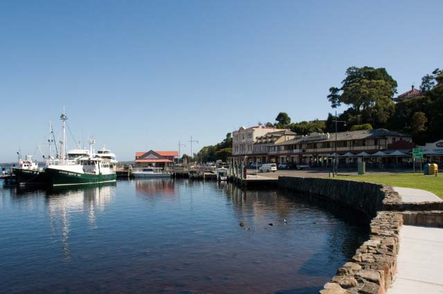 The waterfront at Strahan